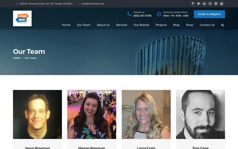 Screenshot of Team Page interiorave.com - Our Team | Interior Avenue - captured Oct. 15, 2017