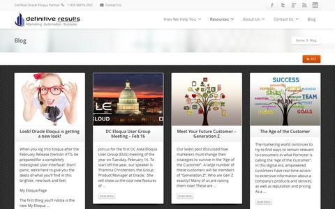 Screenshot of Blog definitive-results.com - Blog - Definitive Results - captured Feb. 9, 2016