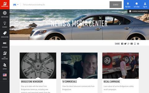 Screenshot of Press Page bridgestonetire.com - Bridgestone News | Bridgestone Tires - captured Oct. 29, 2017