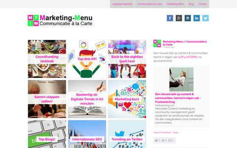 Screenshot of Home Page marketing-menu.nl - Homepage Marketing Menu - captured Oct. 16, 2018