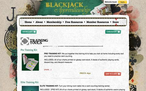 Screenshot of Products Page blackjackapprenticeship.com - Store - Blackjack Apprenticeship Card Counting Resources - captured Sept. 23, 2014