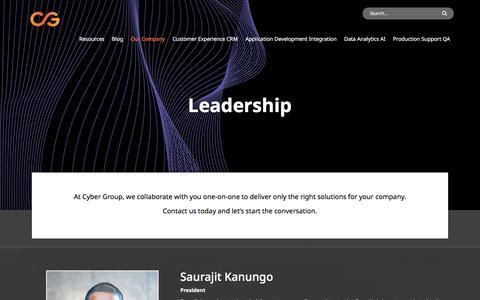 Screenshot of Team Page cygrp.com - Leadership - Cyber Group - captured Feb. 7, 2020
