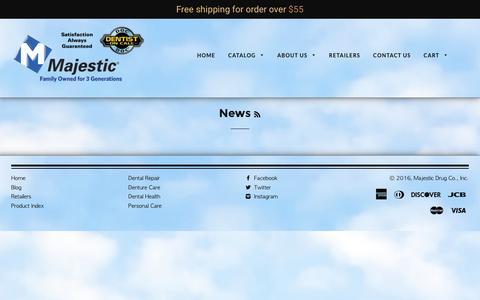 Screenshot of Press Page majesticdrug.com - News – Majestic Drug Co., Inc. - captured Nov. 19, 2016