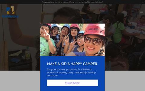 Screenshot of Team Page kidworksoc.org - Our Team — KidWorks - captured July 6, 2018