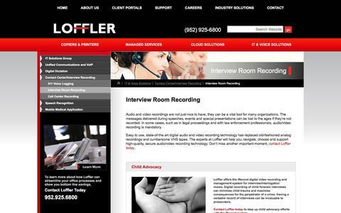 Screenshot of loffler.com - Interview Room Recording | Call Recording, Interview Recording MN | Loffler - captured March 22, 2016