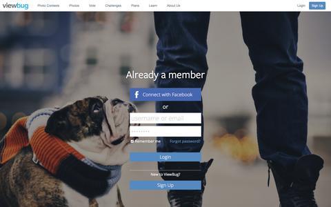 Screenshot of Login Page viewbug.com - Login - ViewBug.com - captured Jan. 13, 2016