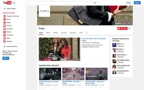 Screenshot of YouTube Page youtube.com - Furla  - YouTube - captured Oct. 31, 2014