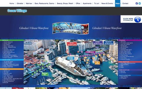 Screenshot of Maps & Directions Page oceanvillage.gi - Ocean Village Guide Map - Ocean Village - captured Oct. 27, 2014