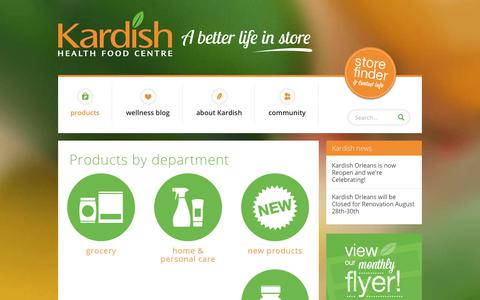 Screenshot of Products Page kardish.com - Collections - Kardish Health Food Centre - captured Oct. 16, 2017