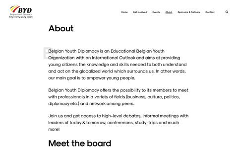 Screenshot of About Page bydiplomacy.com - About – Belgian Youth Diplomacy - captured Oct. 10, 2017