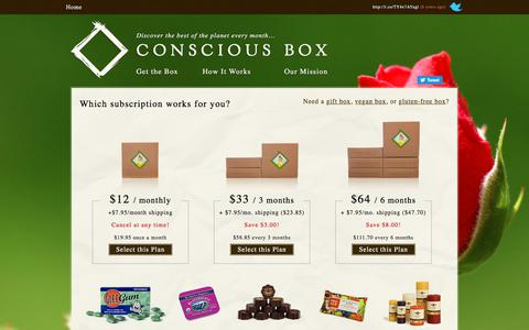 Screenshot of Contact Page consciousbox.com - Conscious Box | Subscribe and start your journey of discovery - captured Jan. 9, 2020