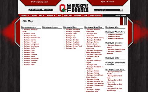 Screenshot of Site Map Page buckeyecorner.com - BuckeyeCorner.com - Site Map - captured Oct. 11, 2017