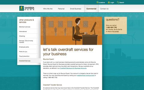 Commercial Overdraft Services
