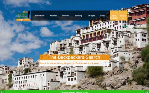 Screenshot of Home Page indianbackpacker.com - The Indian Backpacker | Budget Travel guide to India with free Guidebooks,Cheapest Hostels,Flights,Insurance,Buses and Adventure - captured Oct. 2, 2015