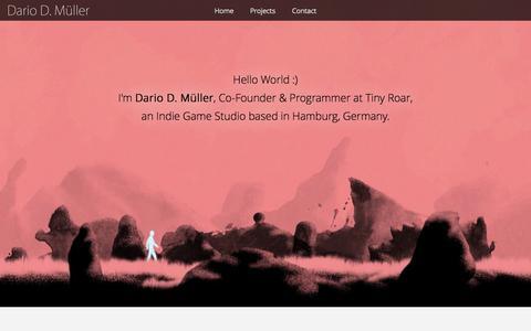 Screenshot of Home Page game-coding.com - Dario D. Müller - captured June 18, 2015