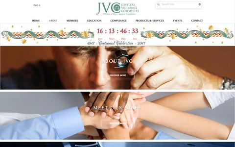Screenshot of About Page jvclegal.org - Jewelers Vigilance Committee | ABOUT - captured Dec. 28, 2016