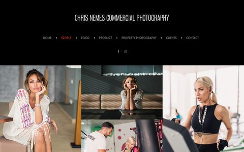 Screenshot of Team Page chrisnemes.com - PEOPLE - CHRIS NEMES COMMERCIAL PHOTOGRAPHY - captured Sept. 28, 2018
