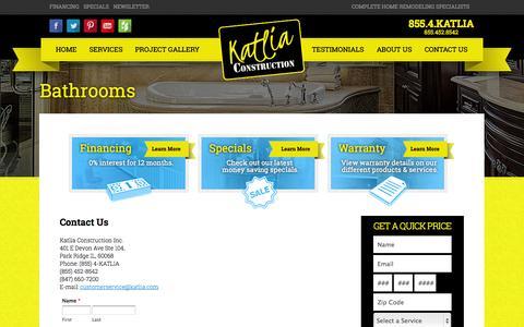Screenshot of Contact Page katlia.com - Contact Us - captured Oct. 6, 2014