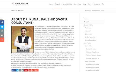 Screenshot of About Page kunalvastu.com - About Dr. Kunal Kaushik - Vastu Consultant - Vastu Expert ( 9871117222 ) - captured Sept. 20, 2018