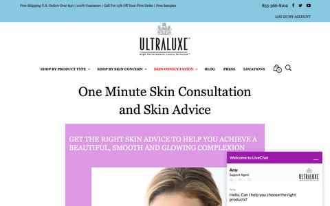 Screenshot of Signup Page ultraluxeskincare.com - Best online skin consultation -Specialists | Ultraluxe skincare - captured June 16, 2017