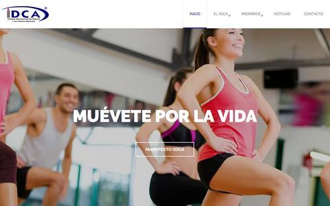 Screenshot of Home Page iidca.net - IIDCA - Instituto Internacional del Deporte y las Ciencias Aplicadas - captured Jan. 12, 2017