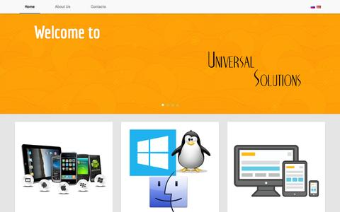 Screenshot of Home Page universal-solutions.net - Universal Solutions LLC - captured Oct. 7, 2014