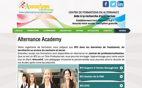 Screenshot of Home Page alternance-academy.com - Alternance Academy - captured March 14, 2018