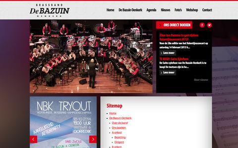 Screenshot of Site Map Page debazuinoenkerk.nl - De Bazuin Oenkerk - Sitemap - captured Oct. 5, 2014
