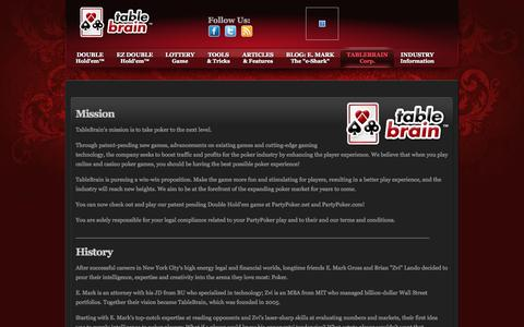 Screenshot of Team Page tablebrain.com - Play online poker - captured Oct. 27, 2014
