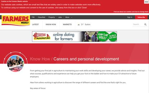 Screenshot of Jobs Page fwi.co.uk - Farm careers and personal development - captured July 3, 2018