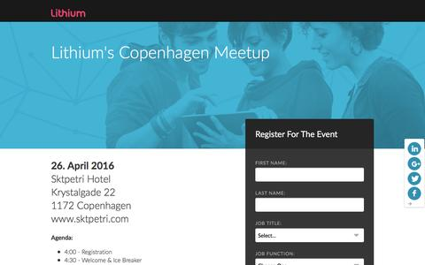 Screenshot of Landing Page lithium.com - Lithium's London Meet-Up - captured April 25, 2016