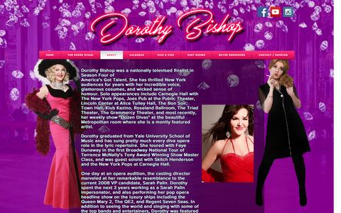 Screenshot of About Page dorothybishop.com - About Dorothy Bishop - The Dozen Divas Show - captured Feb. 11, 2017