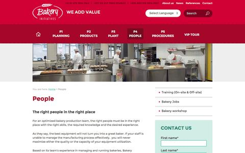 Screenshot of Team Page bakery-initiatives.com - Bakery management & training - We hire or train the right people - captured May 31, 2017