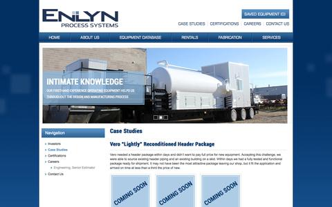 Screenshot of Case Studies Page enlyn.com - Case Studies - ENLYN - captured Oct. 3, 2014