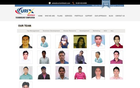 Screenshot of Team Page curixinfotech.com - Our Team | Best SEO Company India, SEO India, SEO Services India, SEO Agency India - captured Oct. 3, 2014