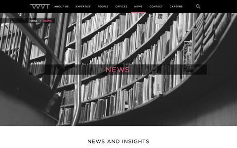 Screenshot of Press Page wvant.com - NEWS | Weidema Van Tol - captured Feb. 14, 2016