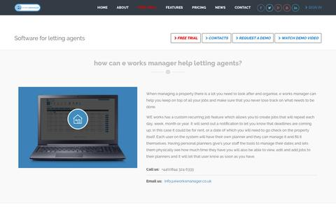 E Works Manager - Software for letting agents