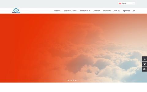 Screenshot of Home Page cloud-people.dk - cloud people - captured Oct. 2, 2014