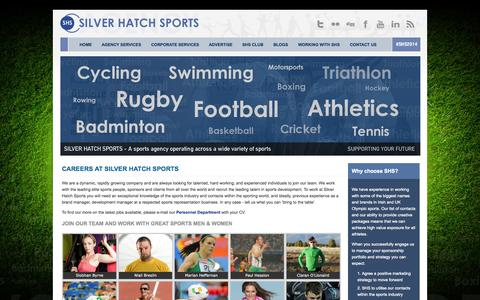 Screenshot of Jobs Page silverhatchsports.com - Careers - Silver Hatch Sports - captured Sept. 30, 2014