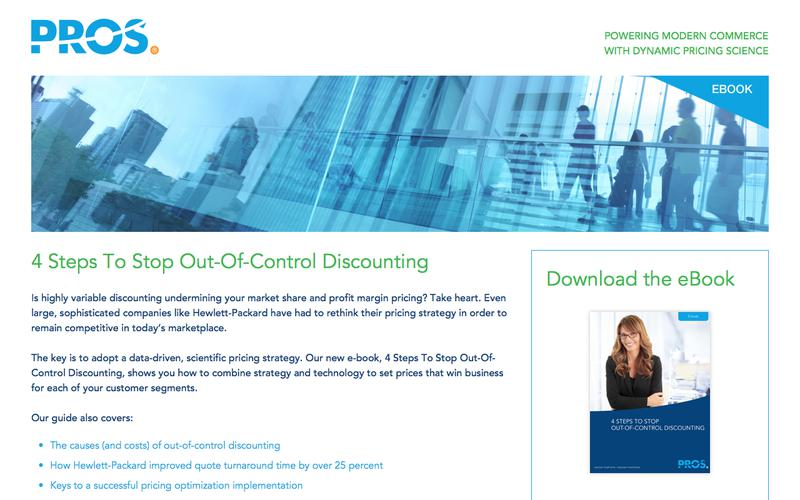 Stop Out-of-Control Discounting | PROS Resources | PROS
