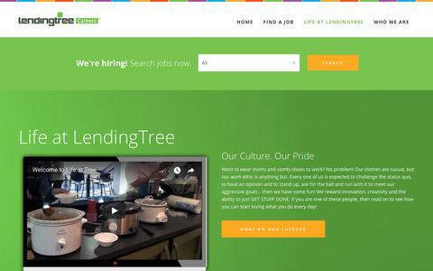 Screenshot of Jobs Page lendingtree.com - Life at LendingTree – LendingTree Careers – Jobs at LendingTree - captured July 2, 2018