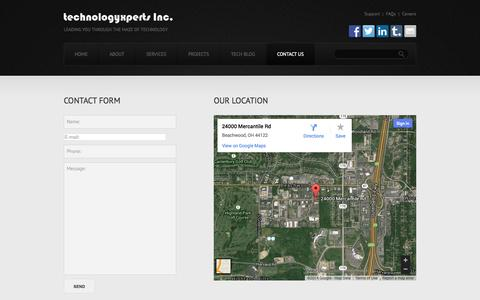 Screenshot of Contact Page Locations Page technologyxperts.com - Contacts  |  TechnologyXperts - captured Oct. 26, 2014