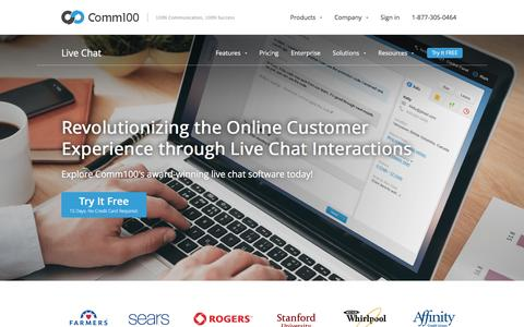 Screenshot of Products Page comm100.com - Live Chat Software by Comm100 | Live Chat for Website - captured Jan. 13, 2016