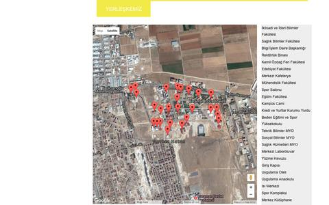 Screenshot of Maps & Directions Page kmu.edu.tr - Karaman Aday Öğrenci - captured June 22, 2017