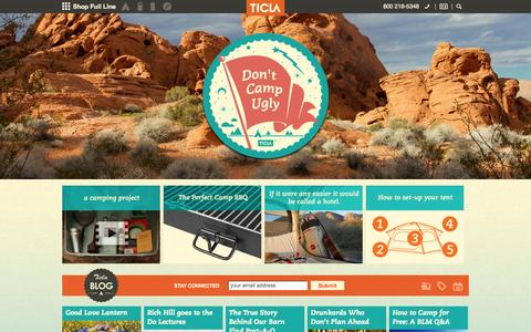 Screenshot of Home Page ticla.com - Camp Better ™ - captured Sept. 7, 2015
