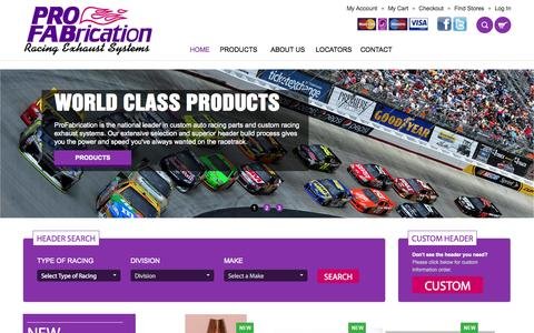 Screenshot of Home Page profabrication.com - PRO-FABrication | Home - captured Jan. 21, 2015