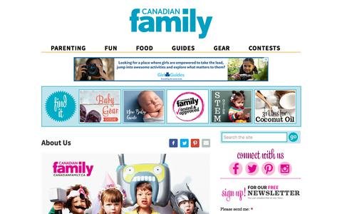 Screenshot of About Page canadianfamily.ca - About Us | Canadian Family - captured July 15, 2018
