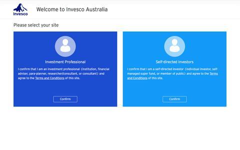 Welcome to Invesco Australia