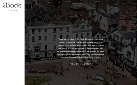 Screenshot of Home Page abodeexeter.co.uk - Luxury Hotel in Exeter City Centre | ABode Exeter - captured Jan. 27, 2017