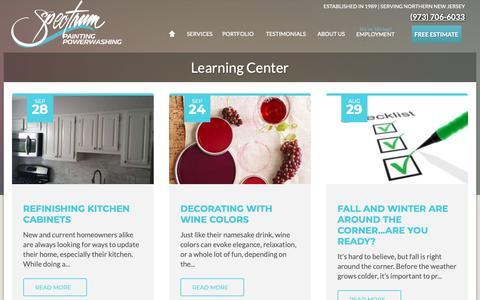 Screenshot of Blog spectrumpaintingllc.com - Learning Center | Spectrum Painting - captured Oct. 19, 2018